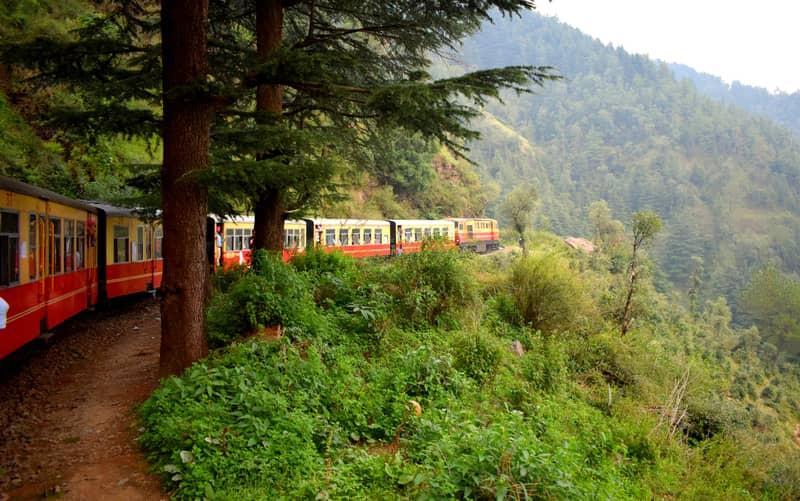 Enjoy a train ride in Shimla