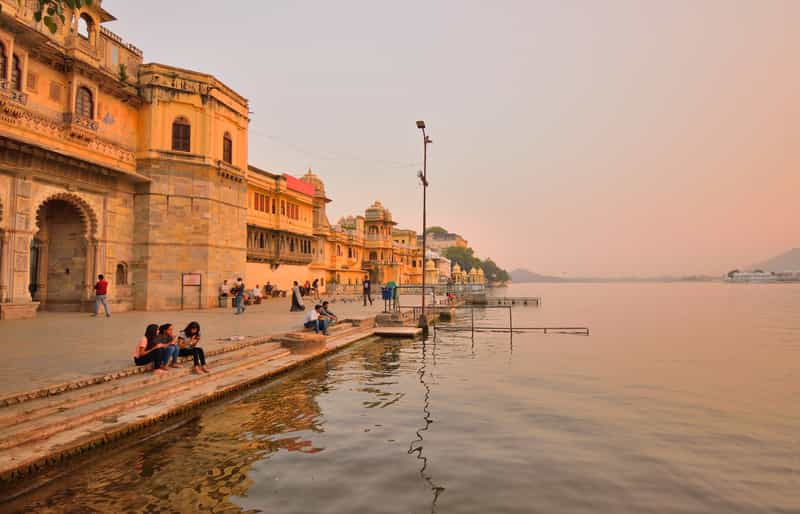 Gangaur Ghat at evening