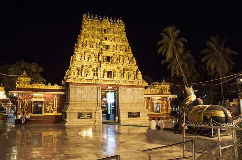 Gokarnath Temple at night