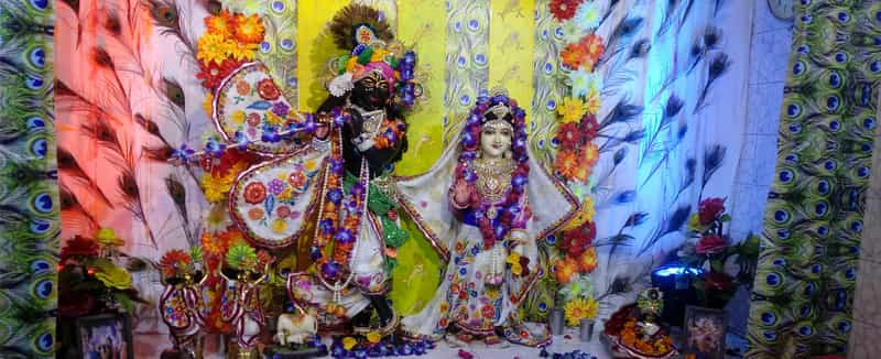 Idols at ISKCON Temple