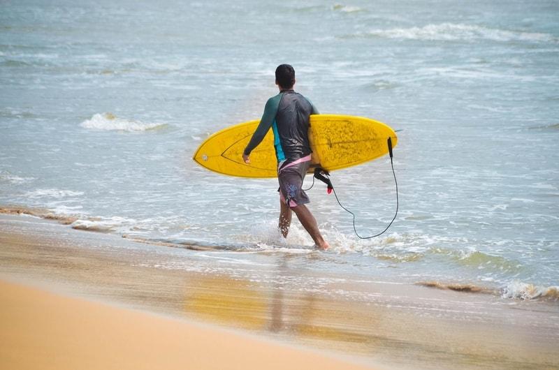Surfing at Rushikonda
