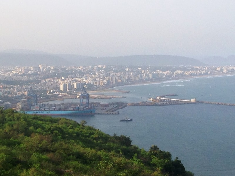 Vizag from Dolphin's Nose viewpoint