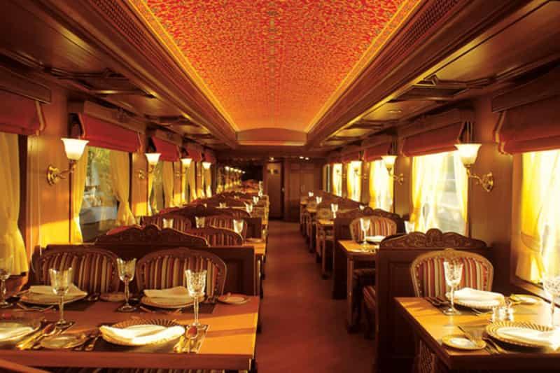 Dining Room inside the Maharaja's Express