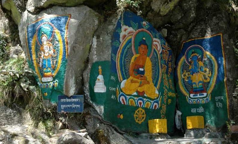 Tibetan Rock Paintings at Garam Sadak