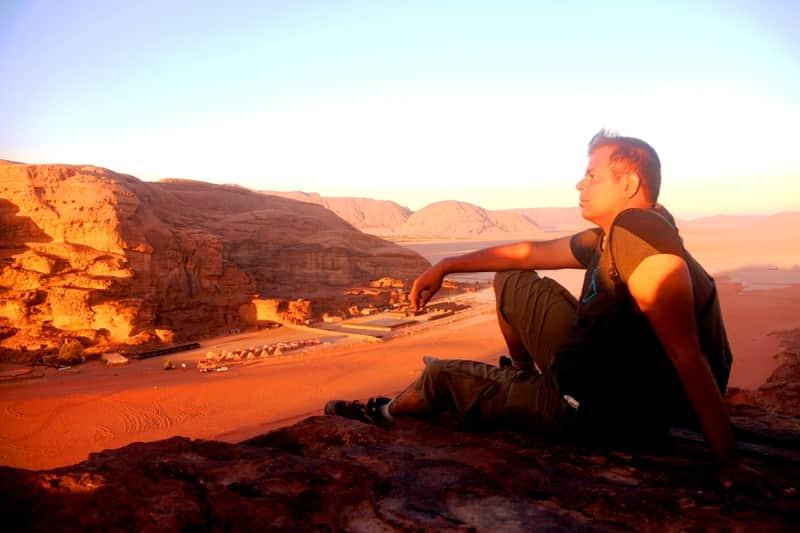 Abhinav at Wadi Rum