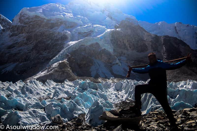 Abhinav in Everest Base camp