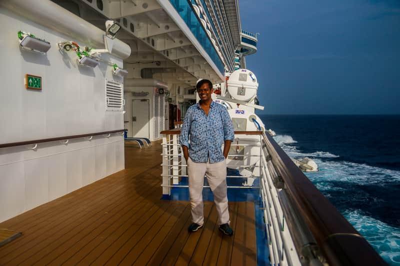 Abhinav in cruise