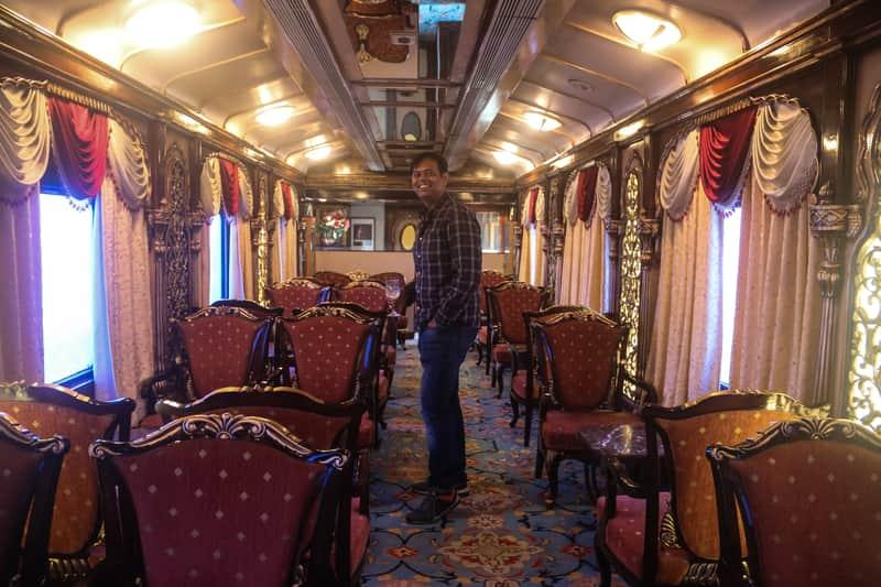 Abhinav in Luxury Train