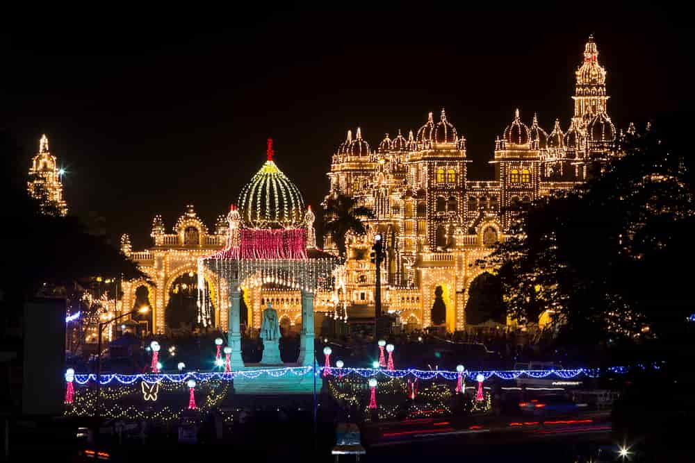 Mysore Palace during Dasara
